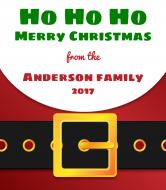 Holiday Wine Label - Santa Claus