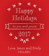 Holiday Wine Label - Holiday Party
