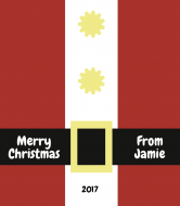Holiday Wine Label - Santa Suit