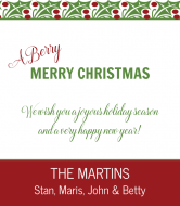Holiday Wine Label - Berry Merry Christmas