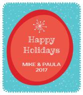 Holiday Wine Label - Retro Holiday