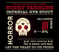 Holiday Beer Label - Night Terrors