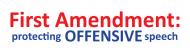 Bumper Sticker - 1st Amendment Protecting Offensive Speech