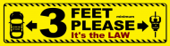 Bumper Sticker - 3 Feet Please Bicycle Passing Safety Bumper Sticke