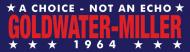 Bumper Sticker - 1964 Goldwater Miller Vintage