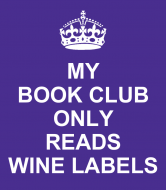 Expressions Wine Label - Keep Calm Book Club
