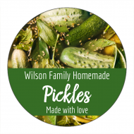 Canning Label - Homemade Pickles