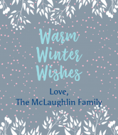 Holiday Wine Label - Warm Winter Wishes