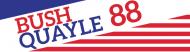 Bumper Sticker - 1988 Bush Quayle Vintage