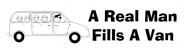 Bumper Sticker - A Real Man Fills A Van