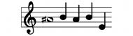Bumper Sticker - A Sharp Babe Musical Notes