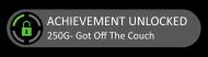 Bumper Sticker - Achievement Unlocked Got Off The Couch