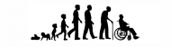 Bumper Sticker - Aging Evolution Of Man