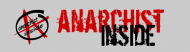 Bumper Sticker - Anarchist Inside