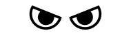 Bumper Sticker - Angry Eyes Face