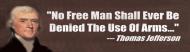 Bumper Sticker - Anti Gun Control Gun Rights