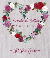 Wedding Champagne Label - Watercolor Floral Wreath