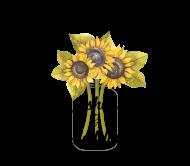 Wedding Beer Label - Sunflower Mason Jar