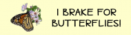 Bumper Sticker - Brake For Butterflies