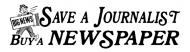 Bumper Sticker - Buy Newspaper Save Journalist