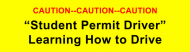 Bumper Sticker - Caution Student Permit Driver