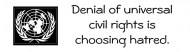 Bumper Sticker - Choose Universal Civil Rights