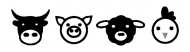 Bumper Sticker - Cow Pig Sheep Chicken