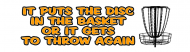 Bumper Sticker - Disc Golf
