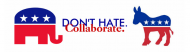 Bumper Sticker - Dont Hate Collaborate Political Bumper