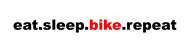 Bumper Sticker - Eat Sleep Bike Repeat