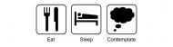 Bumper Sticker - Eat Sleep Contemplate Fun Vector Graphic Design