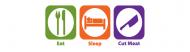 Bumper Sticker - Eat Sleep Cut Meat