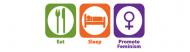 Bumper Sticker - Eat Sleep Promote Feminism
