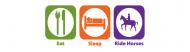 Bumper Sticker - Eat Sleep Ride Horses