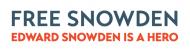 Bumper Sticker - Edward Snowden Hero
