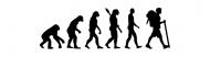 Bumper Sticker - Evolution Hiking