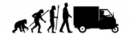 Bumper Sticker - Evolution Of One Piaggio Ape Mini Transporter