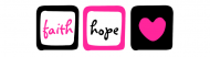 Bumper Sticker - Faith Hope Love Heart 1 Corinthians 13 13