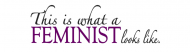 Bumper Sticker - Feminist Looks Like