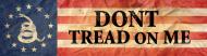 Bumper Sticker - Gadsden And Us 1776 Flag
