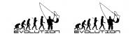 Bumper Sticker - Fly Fisherman Evolution
