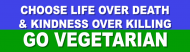 Bumper Sticker - Go Vegetarian