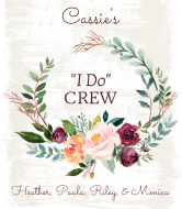 Champagne Label - Bride's I Do Crew