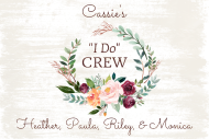 Wedding Mini Wine Label - Bride's I Do Crew