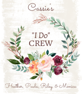 Wedding Wine Label - Bride's I Do Crew