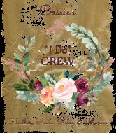 Wedding Wine Label - Bride's I Do Crew