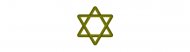 Bumper Sticker - Gold Wood Star Of David For Jewish Traditions