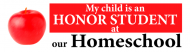 Bumper Sticker - Homeschool Honor Student