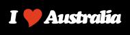 Bumper Sticker - I Heart Australia