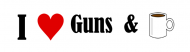 Bumper Sticker - I Heart Guns And Coffee
